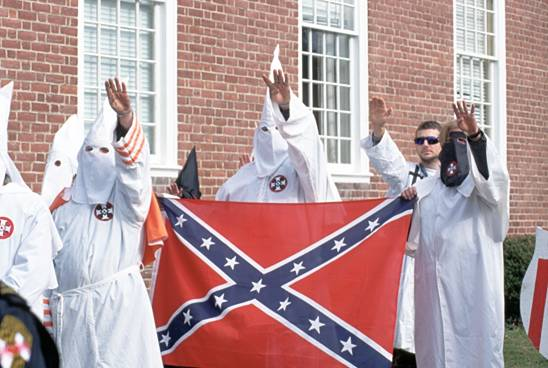Klu-Klux-Klan-with-Conderate-Flag